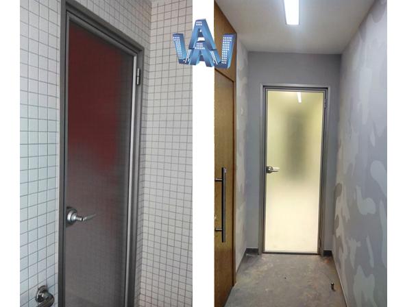 офисные перегородки, двери в проем