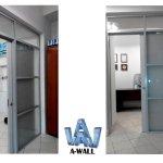 офисные перегородки с раздвижными дверьми
