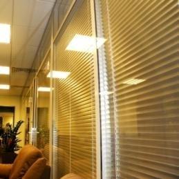 Офисные перегородки из алюминиевого профиля и стекла