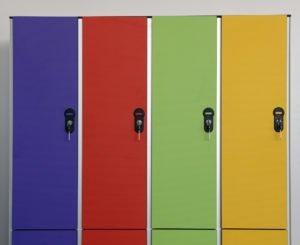 Шкафчики локеры из HPL для одежды