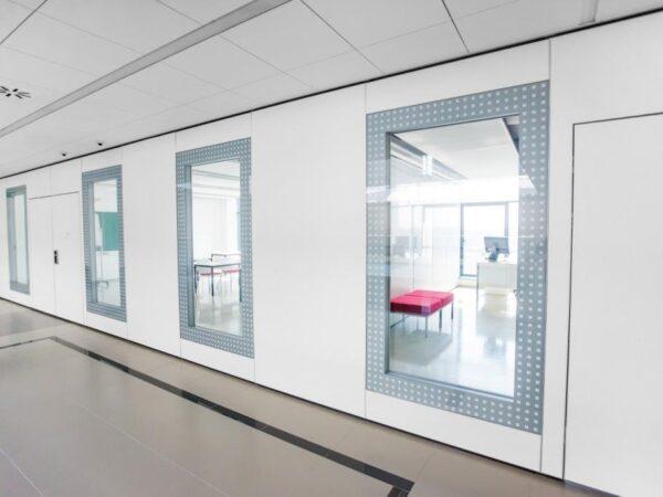 Мобільні стіни Optimal 110 з максимальним склінням